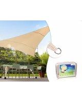 GreenBlue Żagiel ogrodowy zacieniacz UV poliester 4m trójkąt kremowy hydrofobowa powierzchnia - GB501