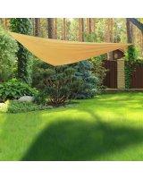 HI HI Żagiel ogrodowy, trójkątny, 3 x 3 m, beżowy, 423916