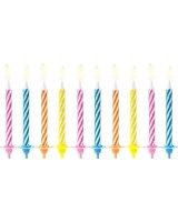 Świeczki urodzinowe, mix kolorów, 6 cm, 10 szt. uniwersalny, PARX1898