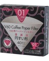 Hario Filtry papierowe Hario do dripa V60-01 40 sztuk, VCF-01-40W