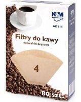 K&M Filtry do kawy rozmiar 4 80szt. (AK114), AK114ROZMIAR4(80SZTUK)