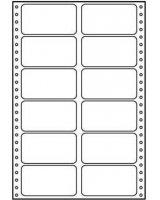 Logo Etykiety tabelaryczne A4, dwurzędowe, białe, 12 etykiety, 10 szt. (32111)