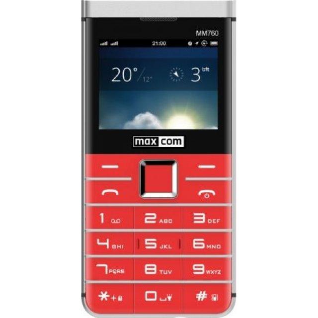 Telefon komórkowy Maxcom MM760 Dual SIM czerwony (MAXCOMMM760RED)