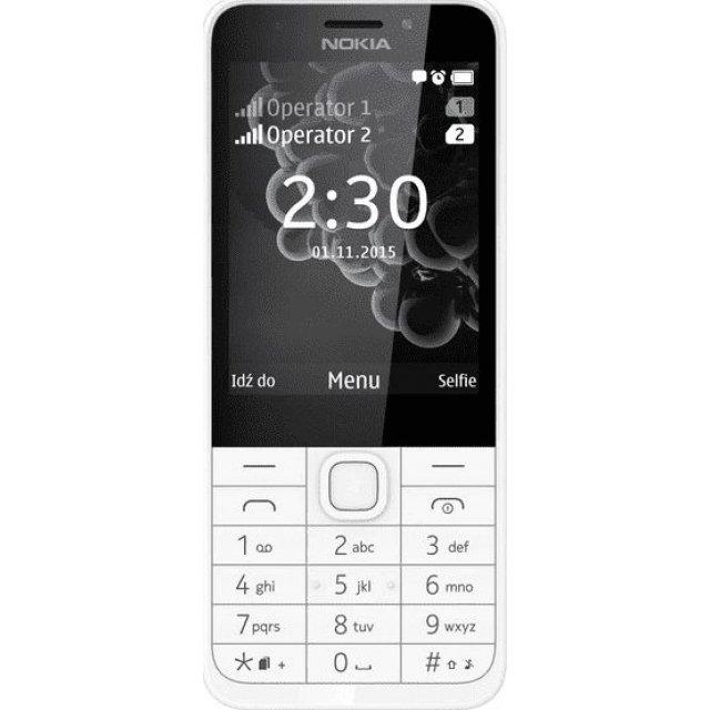 Telefon komórkowy Nokia 230 Biało-Srebrny (DualSIM), A00026999