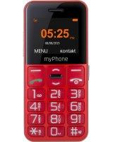 Telefon komórkowy myPhone Halo EASY czerwony, 5902052866625