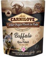 CARNILOVE Carnilove Dog Pouch Bufallo & Rose Petals - bezzbożowa mokra karma dla psa, bawół i płatki róż, saszetka 300g uniwersalny, 19167-uniw