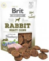Brit BRIT MEATY JERKY Rabbit Meaty Coins KRÓLIK 80g, BRIT-JERKY-01-80