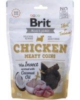 Brit BRIT MEATY JERKY Meaty Coins Chicken KURCZAK 80g, BRIT-JERKY-04-80
