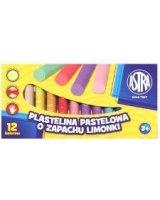 Astra Plastelina pastelowa 12 kolorów o zapachu limonki, WIKR-941481