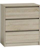 TopEshop Komoda szafka 3 szuflady wys 78cm karo k3 sonoma