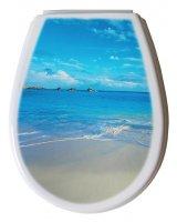 Deska sedesowa Bisk Lilia foto plaża (80376)