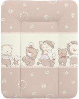 Ceba Ceba Baby, Przewijak miękki Kaczuszki brązowe, 50 x 70 cm