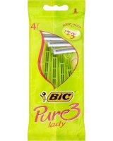 Bic Vienkartiniai skustuvai moterims Bic Pure 3 Lady Disposable 4 vnt.
