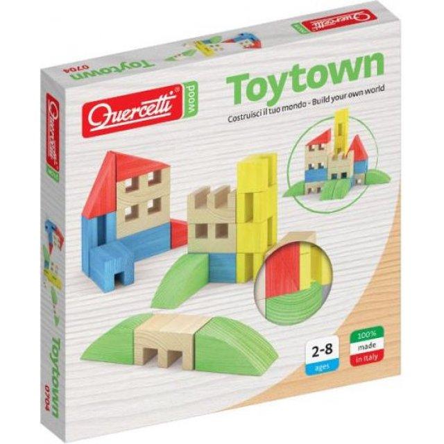 Quercetti Drewniane klocki Toytown 22el (040-0704)