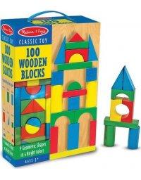 Melissa & Doug Klocki drewniane 100 szt., 772104814