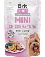Brit Brit Care Adult Mini Chicken Tuna Fillets in Gravy Kurczak z Tuńczykiem w Sosie 85 G, 104-100217