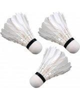 Victoria Sport Lotki do badmintona z piór 3szt. białe, 336982