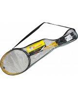 Enero Zestaw do badmintona w pokrowcu 102 czarno-żółty, 1000817