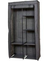 Saska Garden Szafa tekstylna garderoba ciemny szary 88x46x170 cm, 288403-uniw