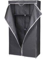 Saska Garden Szafa tekstylna, garderoba ciemno szara 90x45x170CM universal, 1028811