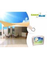 GreenBlue Żagiel ogrodowy zacieniacz UV poliester 3,6m kwadrat (GB503)