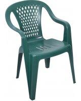 Ołer Garden Krzesło ogrodowe z niskim oparciem Cyrkon zielone
