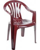 Ołer Garden Plastikowe krzesło Cyrkon bordowe