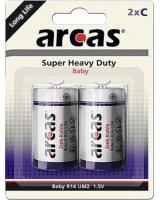 Arcas Bateria Super Heavy Duty C / R14 2szt., 10700214