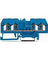 WAGO Złączka szynowa 4-przewodowa 2,5mm2 niebieska EURO (280-834)
