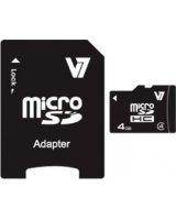 Karta V7 MicroSDHC 4 GB Class 4 (VAMSDH4GCL4R-2E)