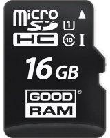 Goodram MicroSD 16GB class 10/UHS 1 + Adapter SD, M1AA-0160R12