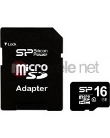 Karta Silicon Power MicroSDHC 16GB Class 10 + adapter (SP016GBSTH010V10-SP), SP016GBSTH010V10SP
