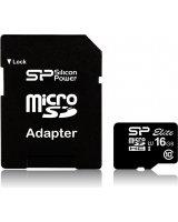Karta Silicon Power Elite MicroSDHC 16 GB Class 10 UHS-I (SP016GBSTHBU1V10-SP)