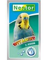Nestor Witaminy dla małych papug z jodem 20g, WPJ