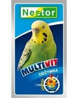 Nestor Witaminy Multivit Nestor dla małych ptaków papug uniwersalny, 3039-uniw