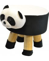 Saska Garden Pufa krzesełko taboret panda 28x28cm, 1019277