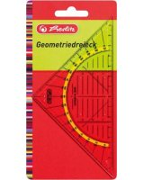 Herlitz Herlitz geometry triangle plastic 16 centimeters, set square(clear), 8700304