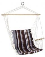 Royokamp Hamak Fotel brazylijski 100x60 cm z wszytą poduszką i podłokietnikami brązowy, CZ20541