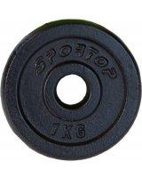 Sportop obciążenie żeliwne 1 kg fi26, 5901750585203