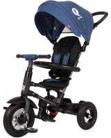 Sun Baby Rowerek trójkołowy - pompowane koła Qplay Rito - niebieski, 5908446781789