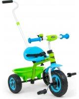 Milly Mally Rowerek dziecięcy 3-kołowy z rączką TURBO Cool Green, 2812