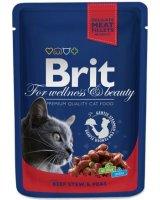 Brit Premium Cat Pouches with Beef Stew & Peas 100g, 8595602505982