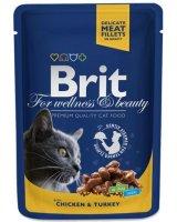 Brit Premium Cat Pouches with Chicken & Turkey 100g, 8595602506019