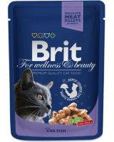 Brit Premium Cat Pouches with Cod Fish 100g, 8595602506002