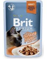 Brit Kot saszetka premium sos TURKEY FILLETS 85g, VAT008668
