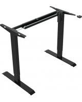 Elektrycznie regulowana podstawa biurka, czarny, 70 kg nośność
