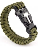 Kemer Bransoletka paracord 3w1 ARMY GREEN UPOMINKARNIA, 1588859298