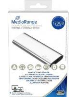 Dysk zewnętrzny MediaRange SSD MR1100 120 GB Srebrny (MR1100)