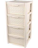 LUMARKO Lumarko arianna regał 4 szuflady 82,5x38,5x39cm kol. Krem (8025647), 030700526 Alt