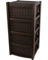 LUMARKO Lumarko arianna regał 4 szuflady 82,5x38,5x39cm kol. Brąz (8025647), 030700528 Alt